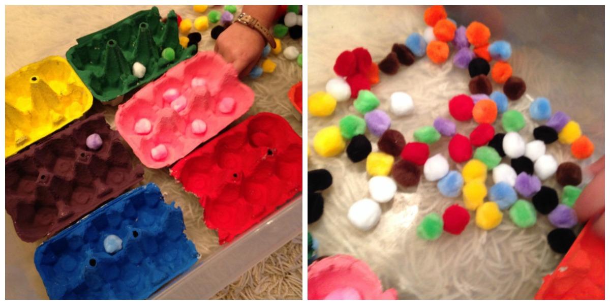 Activités pour les enfants: trier les couleurs
