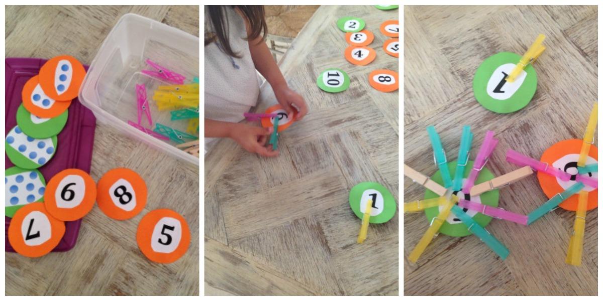 Activités enfants: apprendre à compter -DIY-