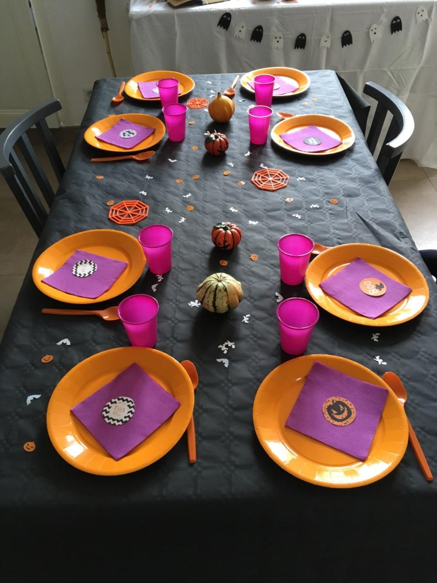 Le goûter d'anniversaire des 6 ans sur le thème d'Halloween