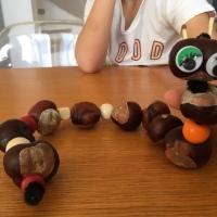 Kids Activity: fabriquer une chenille avec des marrons