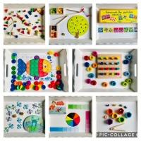 Plateaux d'activités Montessori : les couleurs